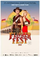 Flickerfest 2018 portrait artwork poster QLD 3324h